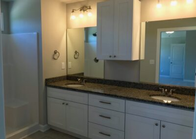 Master bath with double sink vanity